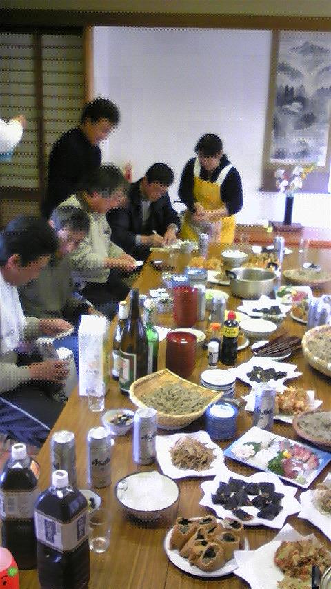 蕎麦うち納会